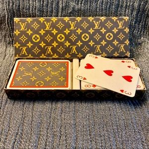 Vintage LOUIS VITTON rare 2 deck playing cards
